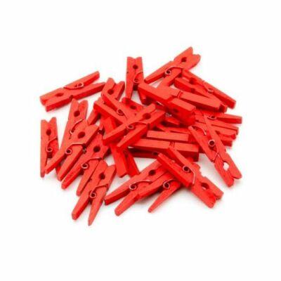 Mini csipesz - piros